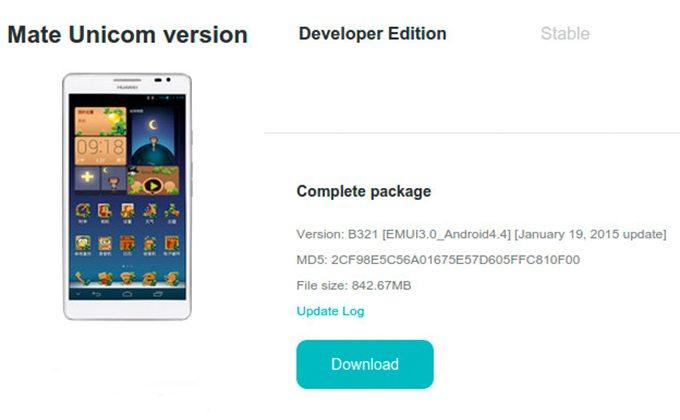 обновление с андроид 4.4 для асценд мате