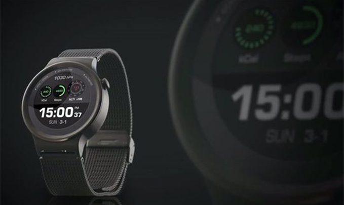 хуавей часы черные