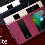 Кожаный чехол с окнами для Huawei P8 Lite