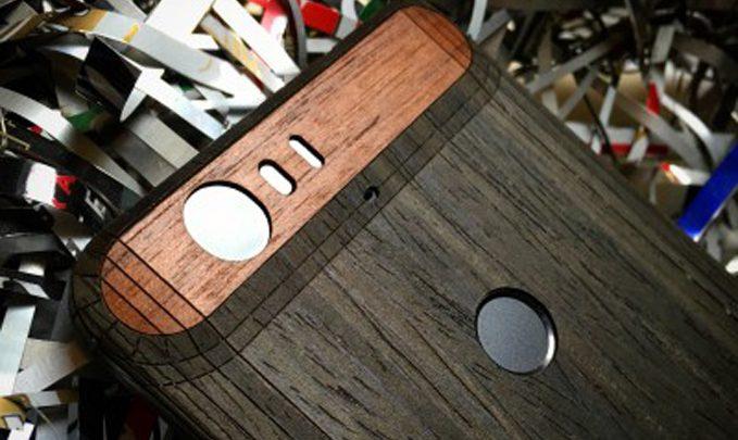 панель из дерева для huawei nexus 6p