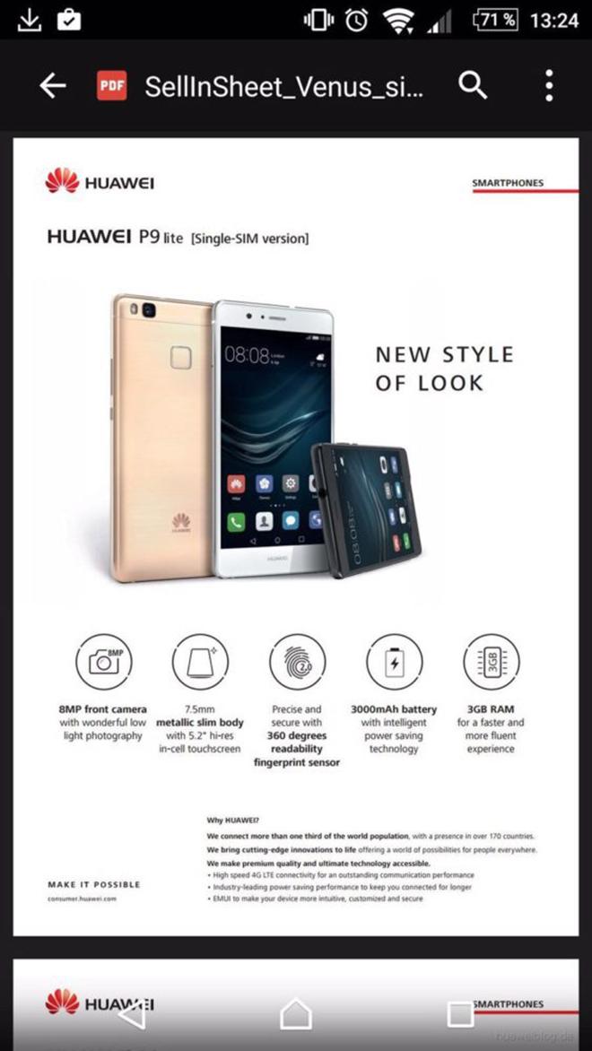 huawei p9 lite характеристики