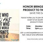 Honor приглашает на «мероприятие виртуального запуска»