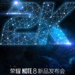 Honor Note 8 с 2К-дисплеем представят 1 августа