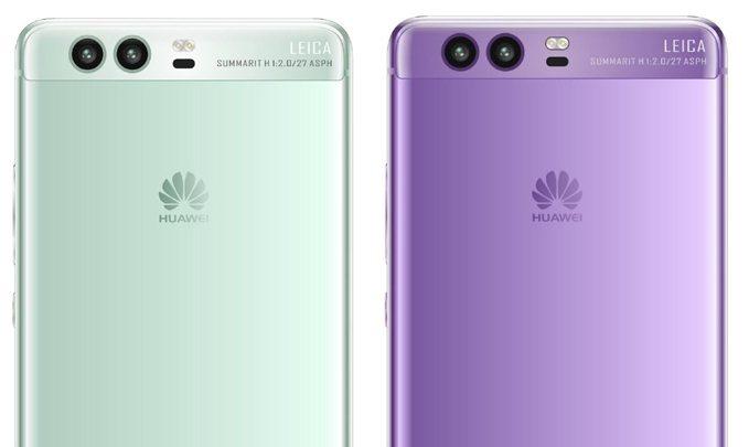 хуавей п10 зеленый и фиолетовый