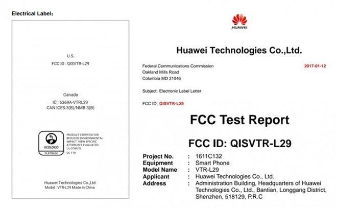 huawei p10 fcc