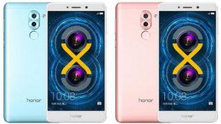 honor 6x в голубом и розовом цветах