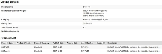 huawei mediapad m5 сертификация