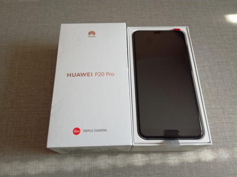 Huawei P20 Pro коробка и комплектация