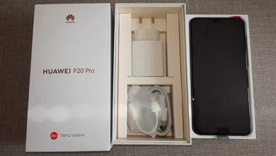 распаковка Huawei P20 Pro
